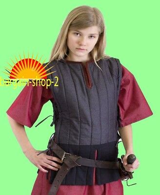 XMAS GIFT Medieval Gambeson thick padded coat Aketon vest Jacket Armor COSTUMES