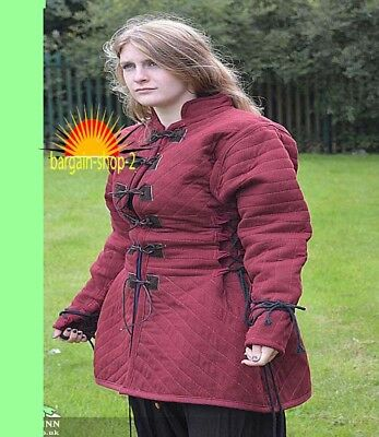 x MAS GIFT Gambeson thick padded Medieval coat Aketon vest Jacket Armor SCA COST