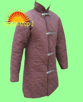 Medieval Gambeson thick padded coat Aketon vest Jacket Armour COSTUMES DRESS SCA