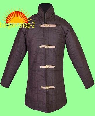 Gambeson thick padded Medieval coat Aketon vest Jacket Armour SCA COSTUMES DRESS