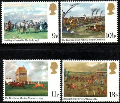 (Ref-12247) Great Britain 1979 Horse Racing Paintings SG.1087/1090 Mint (MNH)