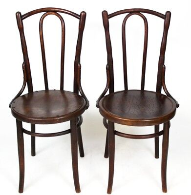 A pair of Art Deco Thonet Bentwood Bistro Chairs - FREE Shipping  [PL4159]