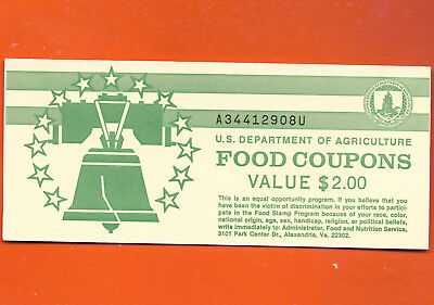 Food Stamp Coupon Book $2.00 1993 B M/c K  U.s Department Of Agricultcre Full