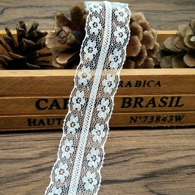 10yds Bilateral Handicrafts Embroidered Net Lace Trim Ribbon Bow Crafts DIY