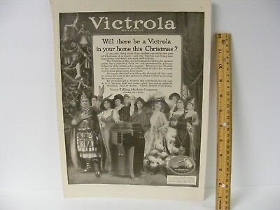 Victor Victrola Christmas Magazine Advertisement