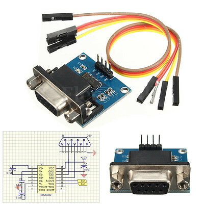 RS232 To TTL Converter Module Serial Module DB9 Connector 3.3V-5.5V Arduino NJCA