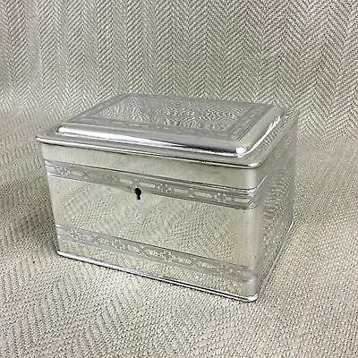 Rare Silver Plated Box Vienna Secession Judaica Jewish Etrog Jewel JUGENDSTIL