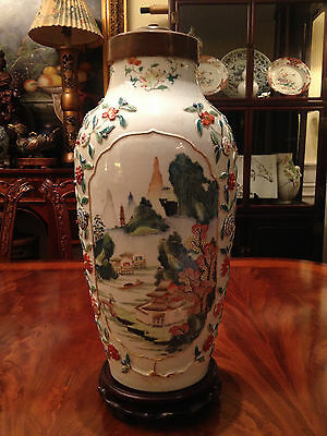 A Large and Important Chinese Qing Dynasty Famille Rose Vase, Damaged.