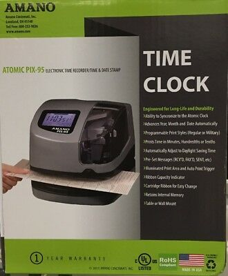 Amano PIX-95 Electronic Time Clock Time Recorder / Date Stamp BRAND NEW