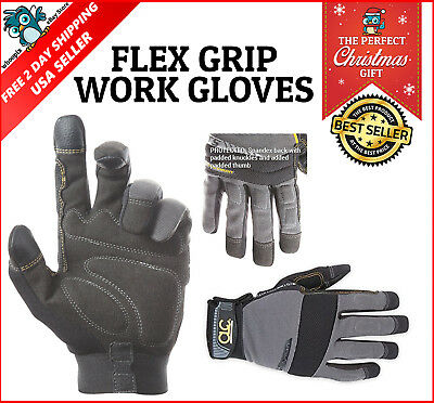 Men Winter Warm Gloves Waterproof Insulated Work Sky Black Large Heavy Duty Grip