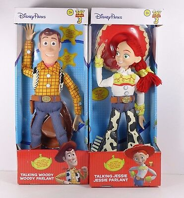 Toy Story 3 Talking Jesse and Woody Pull String Doll Disney Parks Exclusive 16""
