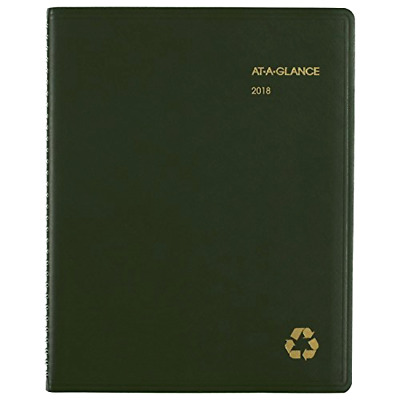 """2018 At-A-Glance 70-950G Weekly Monthly Appointment Book, 801/4 x 10-7/8"""""""