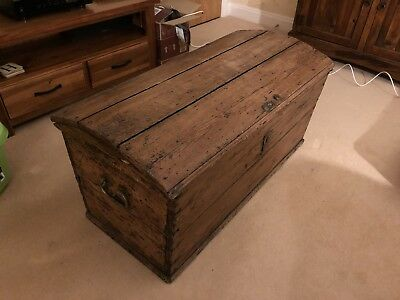 Old Wooden Pirates Treasure Chest