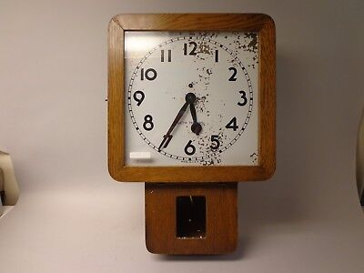 Seth Thomas Square Dial School House Wall Clock Time Only