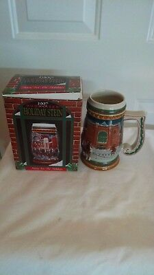 An Anheuser-Busch 1997 Budweiser Holiday (Home for the Holidays) Stein (W COA).