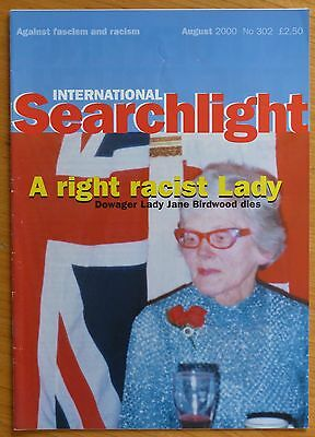 Searchlight 302 - Aug 2000 - The International Anti-Fascist Monthly (NF/BNP)