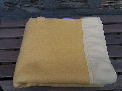 Used - Vintage Baby Blanket - Acrylic - Mothercare Pale Yellow - 132 x 108cm