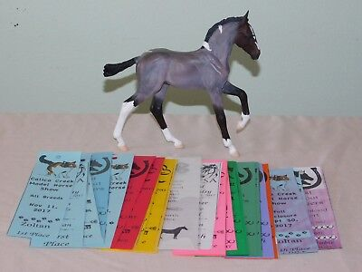 Cm Breyer Gozosa - Roan - With show ribbons