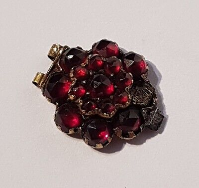 SUPERB antique yellow gold tone multi ruby red stone item. Metal detecting find