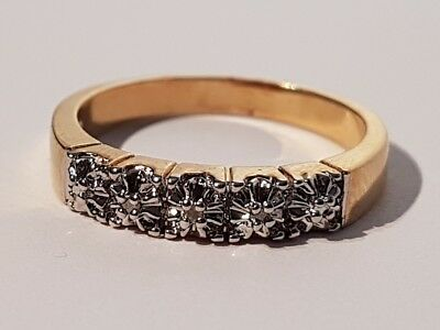 GORGEOUS gold tone clear stone illusion set ring. Metal detecting beach find