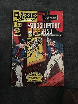 Classics Illustrated # 74 HRN (75) - Mr. Midshipman Easy Good Cond.