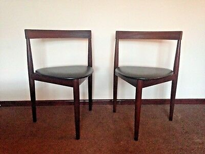 frem rojle  a pair of vintage1960 danish dining chairs
