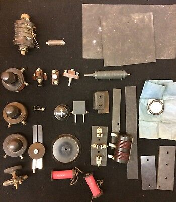 Various Vintage Radio Components As Pictured Inc. Telsen Switches