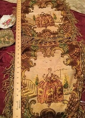 Vintage Exquisite FRENCH💋 Pair Of Antique Tapestries ARM Chair Covers/Pillow