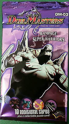 Duel Masters Rampage Of The Super Warriors Booster Pack New with Free UK Postage