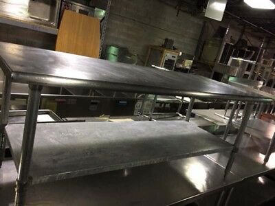 "Stainless Steel Equipment Stand  72"" x 30"""