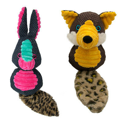 Sotnos Fox or Bunny Tough Squeaky Dog Toy | Reinforced Canvas Double Stitched