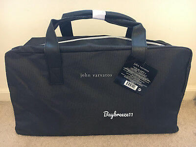 521d093b588f NWT John Varvatos Black Gray Duffle Weekender Travel Gym Bag. FREE SHIPPING!