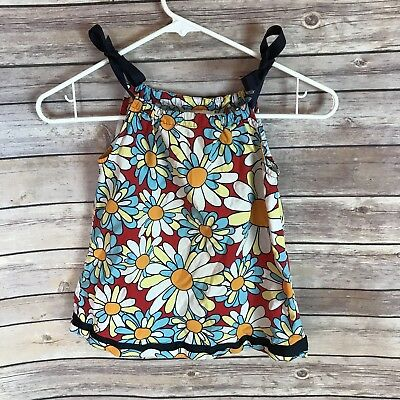 Toddler Girl Hanna Andersson Flower Colorful Dress Size 80 2T 18-24