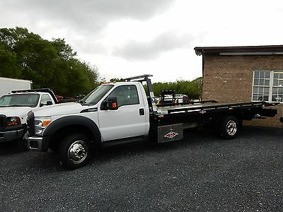 2013 Ford F550 4X4 Rollback 19' Danco Bed (* Not 21') New 6.8 V10 Fmc Repo
