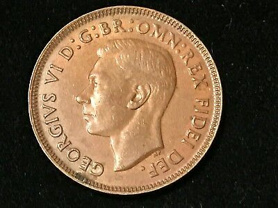 T2: World Coin Australia 1952 Lower Mintage Half Penny