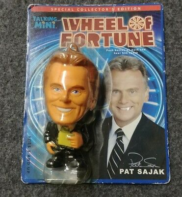 Pat Sajak Talking Mini Miniature Keychain Wheel Of Fortune New In Package