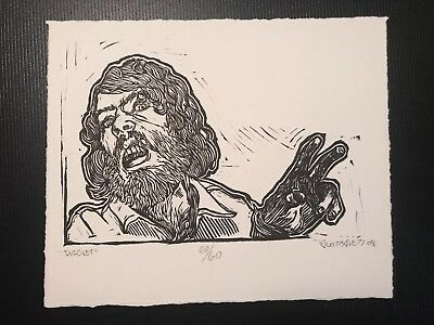 Scott Avett Linoleum block print By Scott Avett 50/60