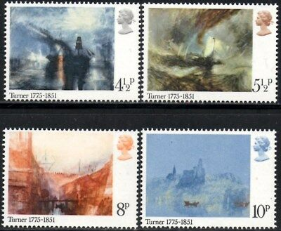 (Ref-12265) Great Britain 1975 Turner Birth Bicentenary  SG.971/974 Mint (MNH)