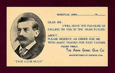 """Scarce - Early """"Goble Chewing Gum Co."""". - Salesman Calling Card"""