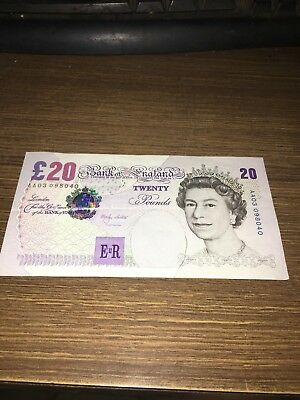 20 Pound Bank Of England Note. Found Inside The Book That Listed On This Page.