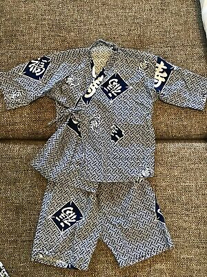 Girls/Unisex Pajamas Kimono Style -Size 6-8 Cotton. Great For Summer