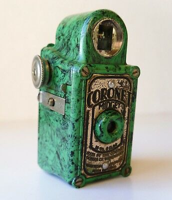 VINTAGE 30s RARE GREEN COLOR CORONET MIDGET SUBMINIATURE SPY CAMERA 16mm