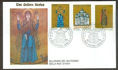 Vatican City Sc# 813-15, Rus of Kiev on First Day Cover