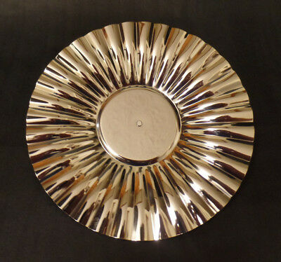 """New 7 1/4"""" Stainless Steel Bracket Reflector For Cast Iron Wall Bracket Oil Lamp"""