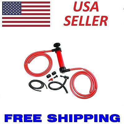 Universal Car Siphon Pump Liquid Gas Fuel Oil Water Hose Transfer Manual Sucker