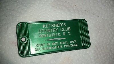 Vintage Kutsher's Country Club Monticello New York Hotel Key Fob TAG