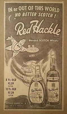 1949 Red Hackle Blended Scotch Whisky Ad No Better Scotch