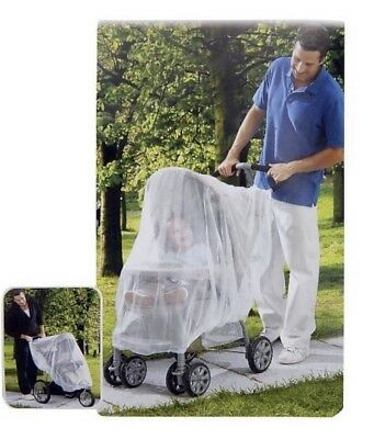 Especially for Baby (Babies R Us) Stroller Mesh Netting Blocks Insects Twin Pack