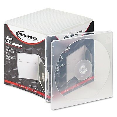 Innovera Slim CD Case Clear 25/Pack