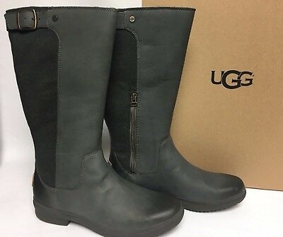 9b7ef26ea18 UGG AUSTRALIA WOMEN'S Janina Waterproof Rain Knee High Boot 1017387 Slate  sizes